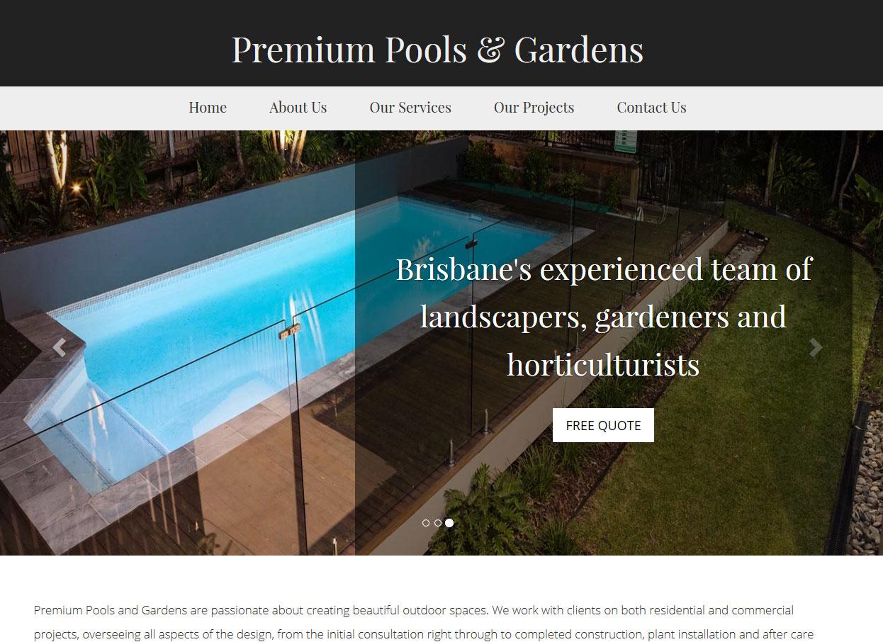 Premium Pools & Gardens